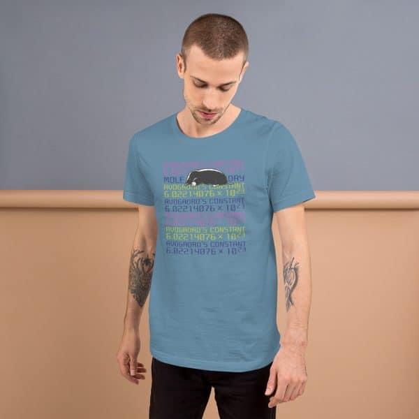 unisex staple t shirt steel blue front 610d6cc45eb80 600x600 - Mole Day