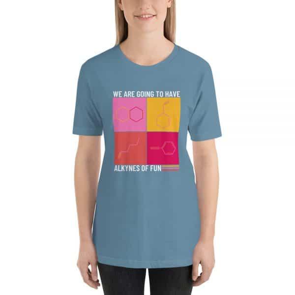 unisex staple t shirt steel blue front 610d790ca964c 600x600 - Alkynes of Fun