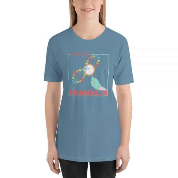 unisex staple t shirt steel blue front 610d839139eb8 600x600 - Rosalind Franklin