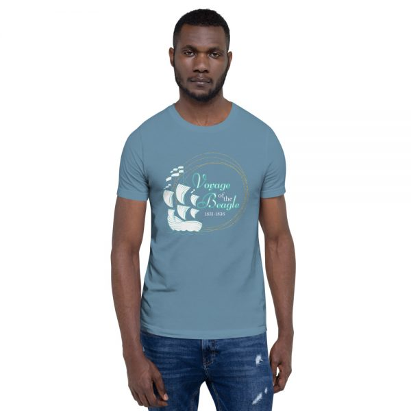 unisex staple t shirt steel blue front 610d88428ad05 600x600 - Voyage of the Beagle