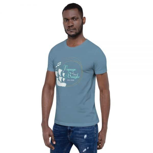unisex staple t shirt steel blue left front 610d88428bd61 600x600 - Voyage of the Beagle