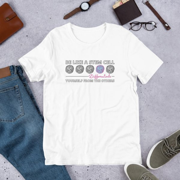 unisex staple t shirt white front 610d62de5c68f 600x600 - Be Like a Stem Cell