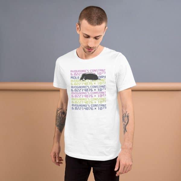 unisex staple t shirt white front 610d6cc45e39d 600x600 - Mole Day
