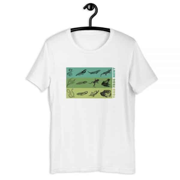 unisex staple t shirt white front 610d6e6490ba5 600x600 - Amphibian Life Cycle