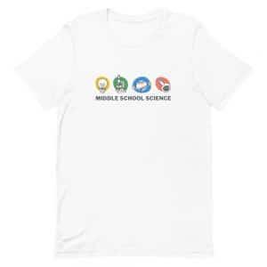 unisex staple t shirt white front 610d77a4481eb 300x300 - Middle School Science Club Shirt