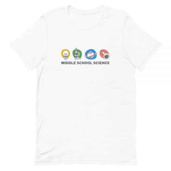 unisex staple t shirt white front 610d77a4481eb 600x600 - Middle School Science Club Shirt