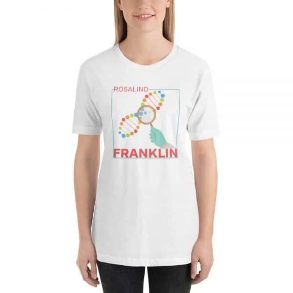 unisex staple t shirt white front 610d83912c452 600x600 - Rosalind Franklin