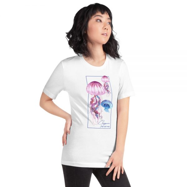 unisex staple t shirt white right front 610d7a6ce7c78 600x600 - Jellyfish