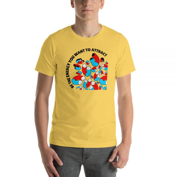 unisex staple t shirt yellow front 610c4d13ca8d2 600x600 - Be The Energy You Want To Attract