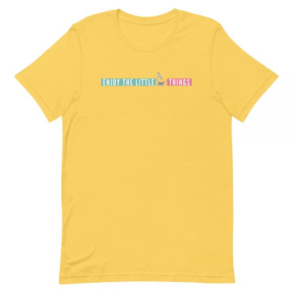 unisex staple t shirt yellow front 610d674a93def 600x600 - Enjoy the Little Things