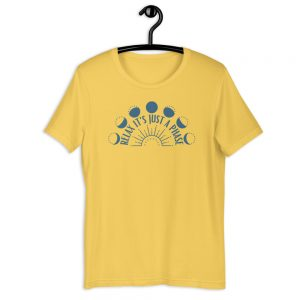 unisex staple t shirt yellow front 610d688934425 300x300 - Relax It's Just a Phase Sunburst