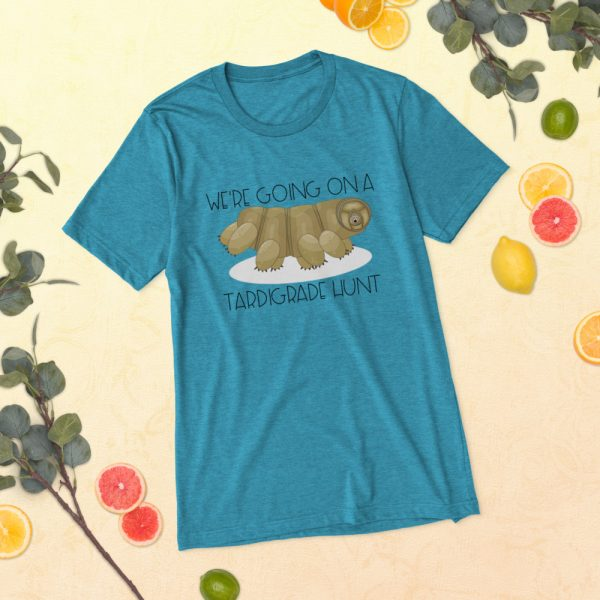 unisex tri blend t shirt aqua triblend front 60ef307b66a9a 600x600 - Going on a Tardigrade Hunt