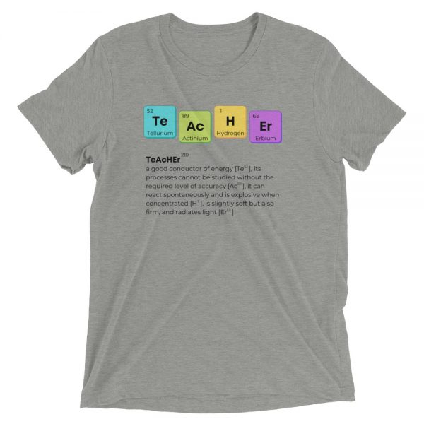 unisex tri blend t shirt athletic grey triblend front 610d58b618d1b 600x600 - TeAcHEr t-shirt