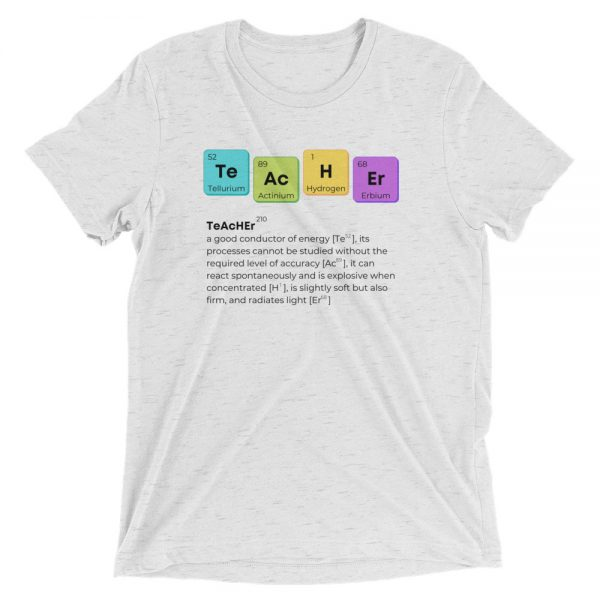 unisex tri blend t shirt white fleck triblend front 610d58b6187d0 600x600 - TeAcHEr t-shirt